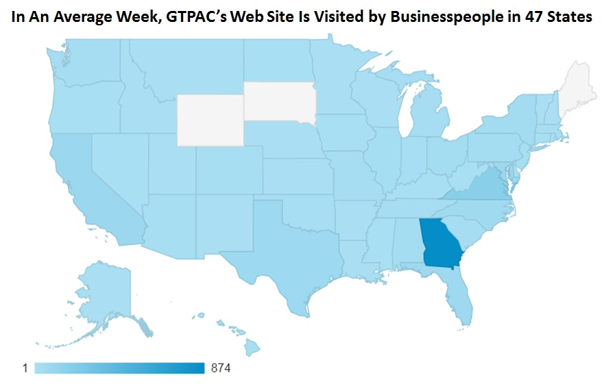 Visits in Average Week from 47 States