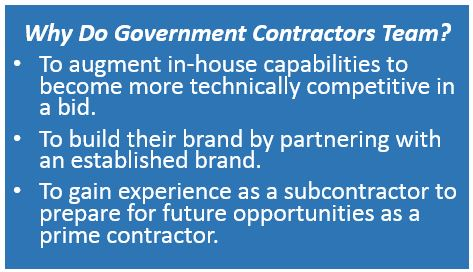Why Government Contractors Team