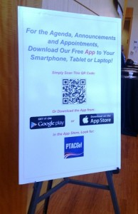 The app used for many aspects of the Industry Day can be downloaded for free from Google Play (Android), Apple's App Store (iPhone) or by scanning the QR code.