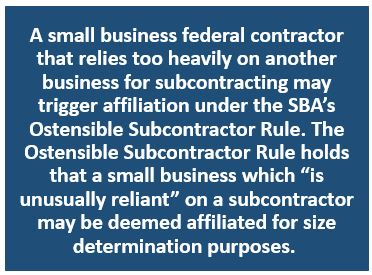 Ostensible Subcontracting Rule