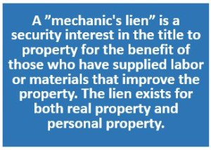 Mechanic's Lien