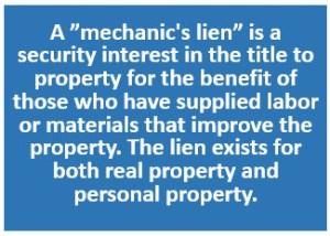 Mechanic's Lien