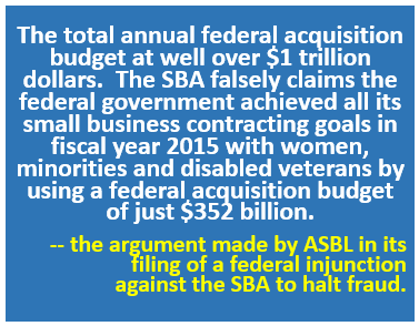 ASBL Injunction Against SBA - May 2016