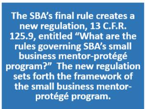 SBA Mentor-Protege Program 07.2016