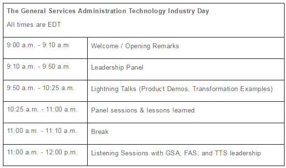 GSA Tech Industry Day 09.08.2016