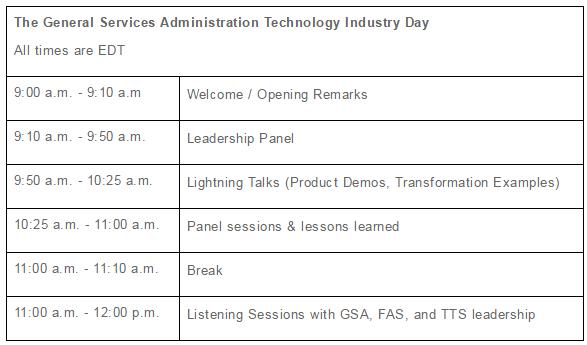 GSA Tech Industry Day 09.08.2016