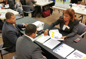 At the Dept. of Administrative Services' table, vendors learned about how to do business with the State of Georgia.