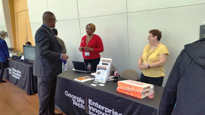Bridget Bennett and Donna Vandersall spoke to many attendees throughout the day about the services offered by GTPAC.