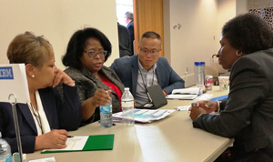 Subcontracting opportunities were a hot topic at IBM's matchmaking table.